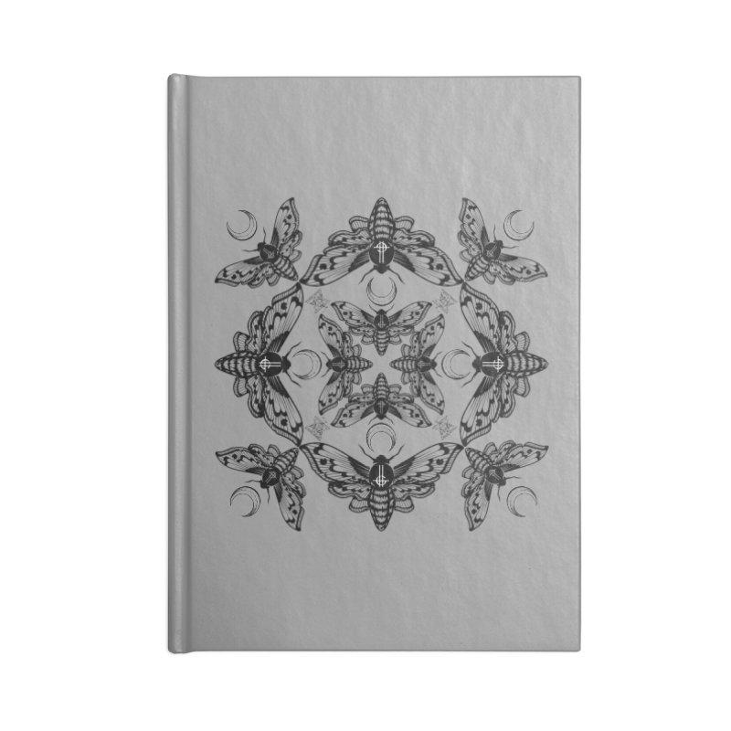Ghost Cirice Moth Kaleidoscope Accessories Notebook by ninthstreetdesign's Artist Shop