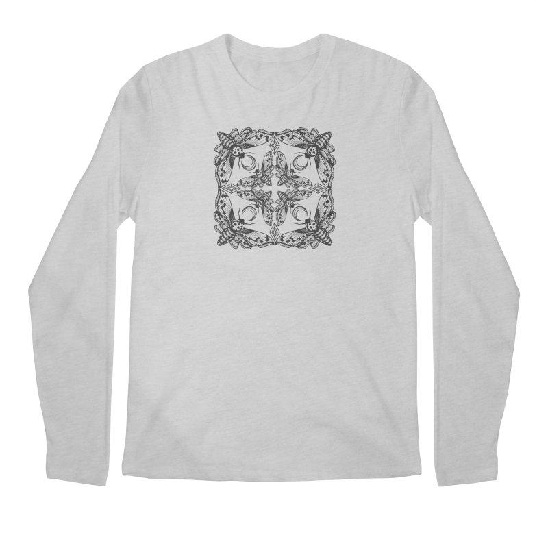 Death Head Moth Kaleidoscope Men's Longsleeve T-Shirt by ninthstreetdesign's Artist Shop