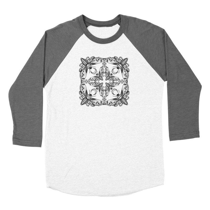 Death Head Moth Kaleidoscope Women's Baseball Triblend T-Shirt by ninthstreetdesign's Artist Shop