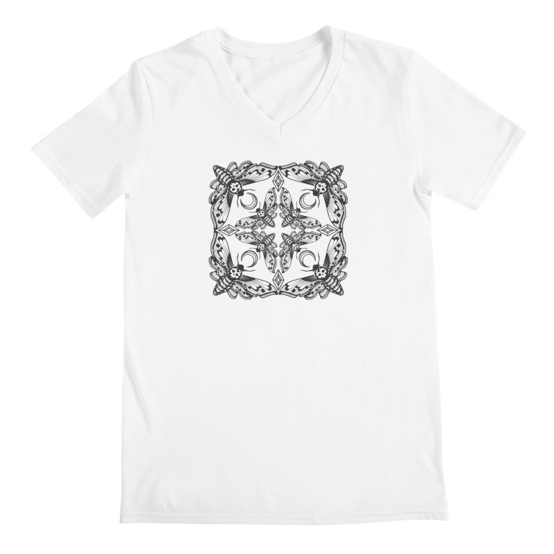 Death Head Moth Kaleidoscope Men's V-Neck by ninthstreetdesign's Artist Shop