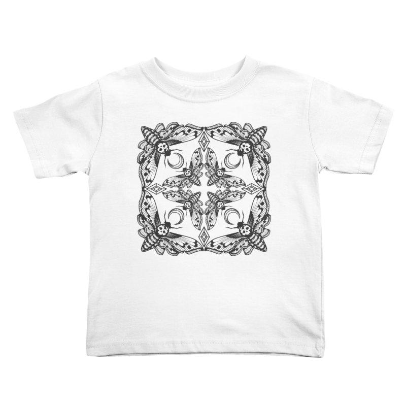 Death Head Moth Kaleidoscope Kids Toddler T-Shirt by ninthstreetdesign's Artist Shop