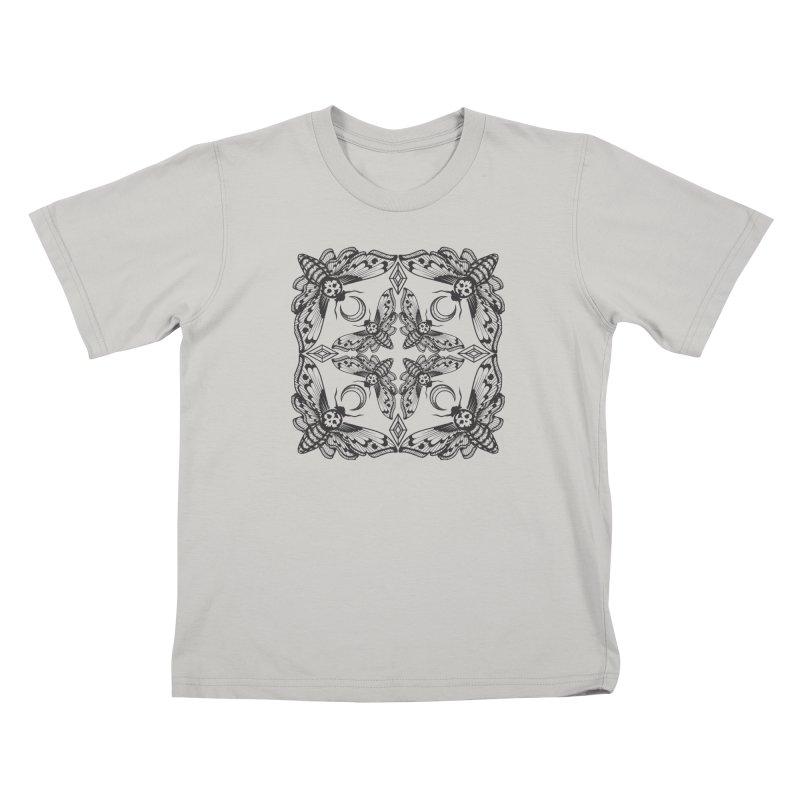 Death Head Moth Kaleidoscope Kids T-Shirt by ninthstreetdesign's Artist Shop