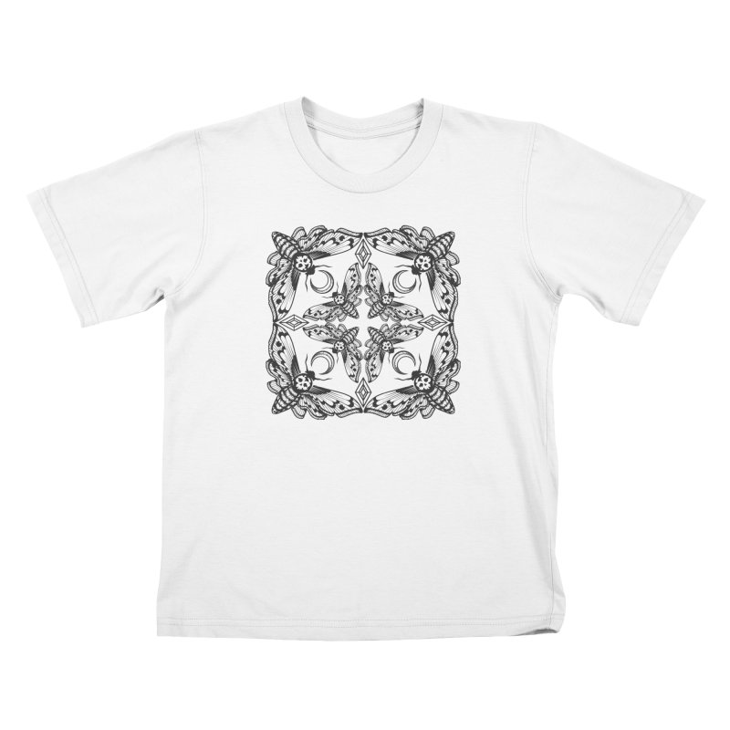 Death Head Moth Kaleidoscope Kids T-shirt by ninthstreetdesign's Artist Shop