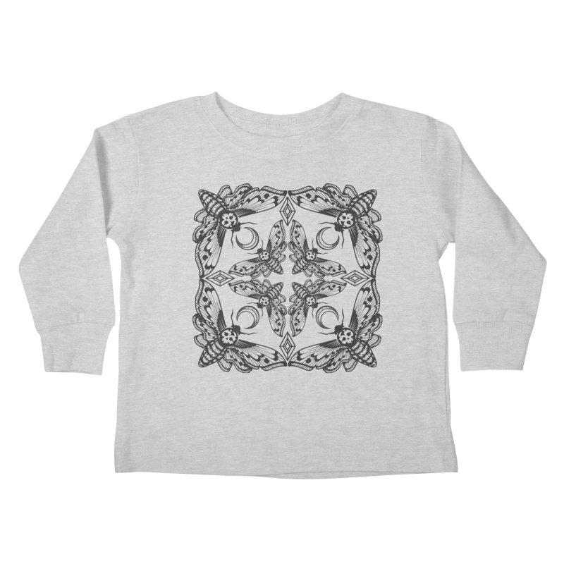 Death Head Moth Kaleidoscope Kids Toddler Longsleeve T-Shirt by ninthstreetdesign's Artist Shop