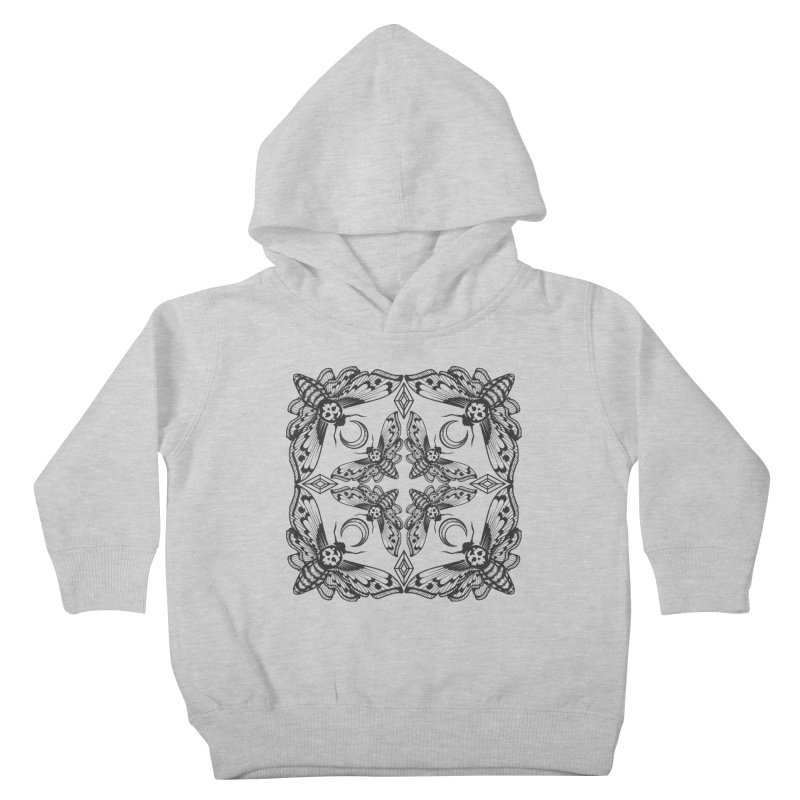 Death Head Moth Kaleidoscope Kids Toddler Pullover Hoody by ninthstreetdesign's Artist Shop