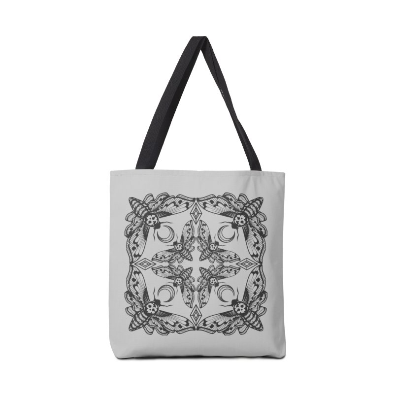 Death Head Moth Kaleidoscope Accessories Bag by ninthstreetdesign's Artist Shop