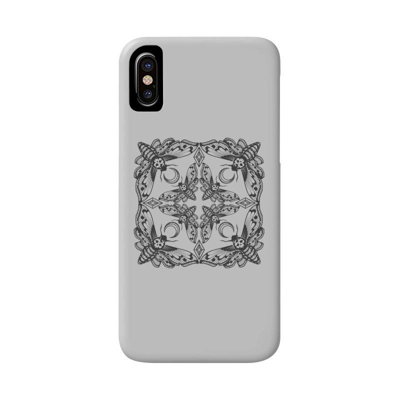 Death Head Moth Kaleidoscope Accessories Phone Case by ninthstreetdesign's Artist Shop