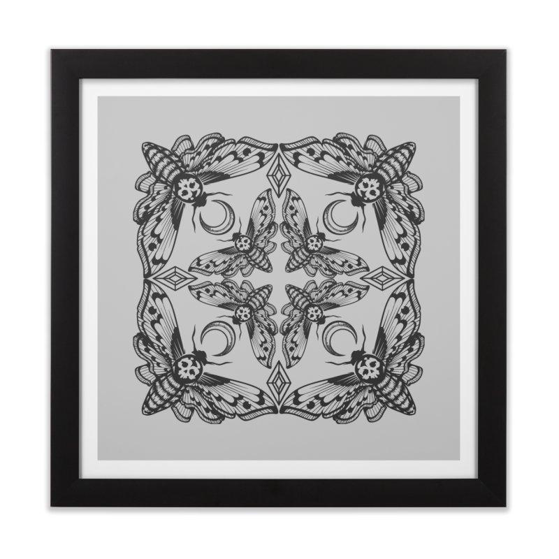 Death Head Moth Kaleidoscope Home Framed Fine Art Print by ninthstreetdesign's Artist Shop