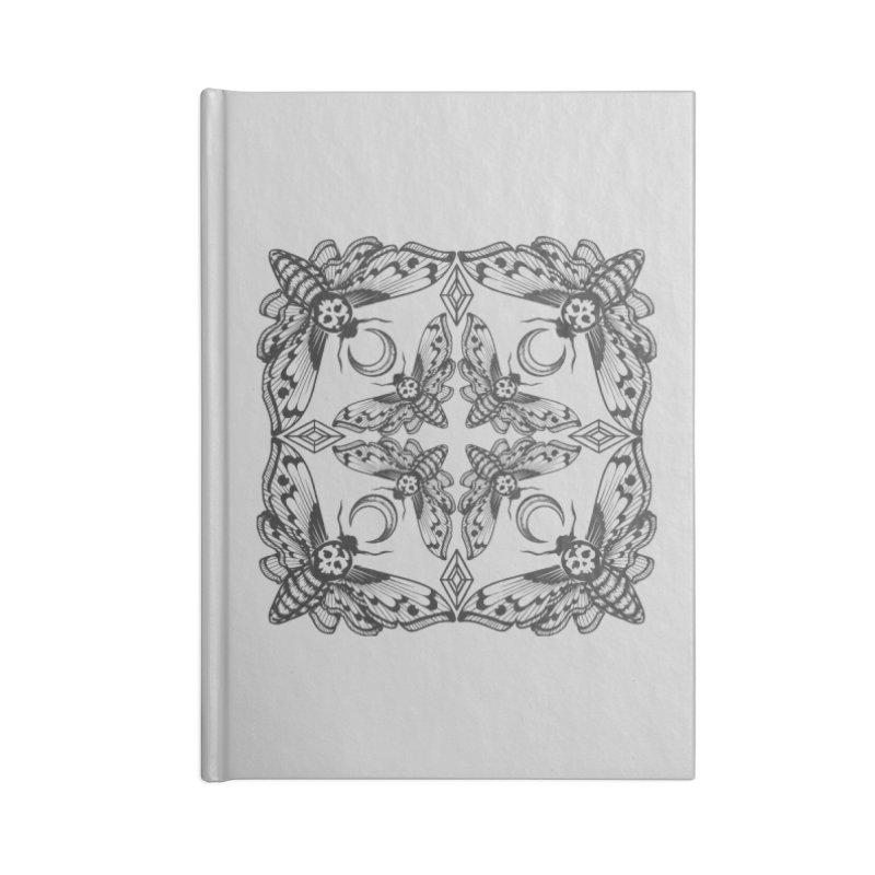 Death Head Moth Kaleidoscope Accessories Notebook by ninthstreetdesign's Artist Shop