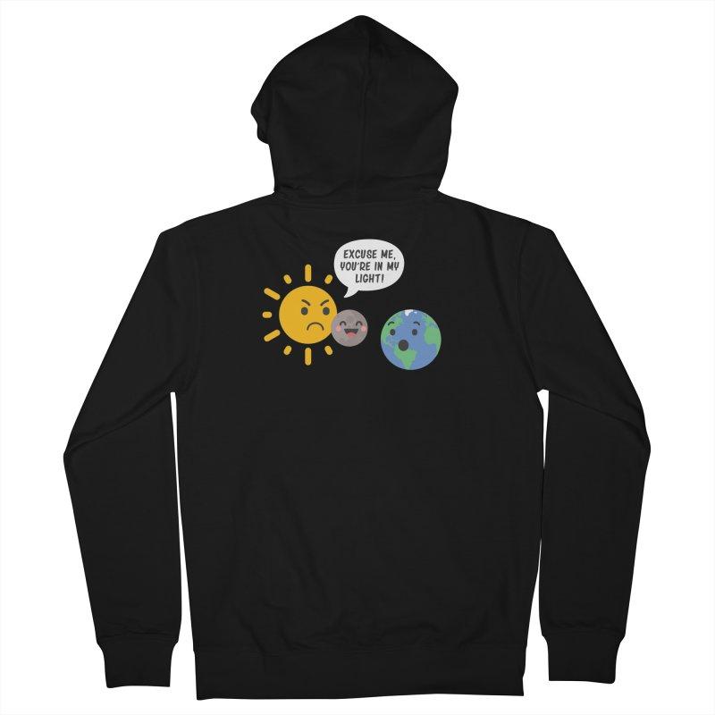 Solar Eclipse Men's Zip-Up Hoody by ninthstreetdesign's Artist Shop