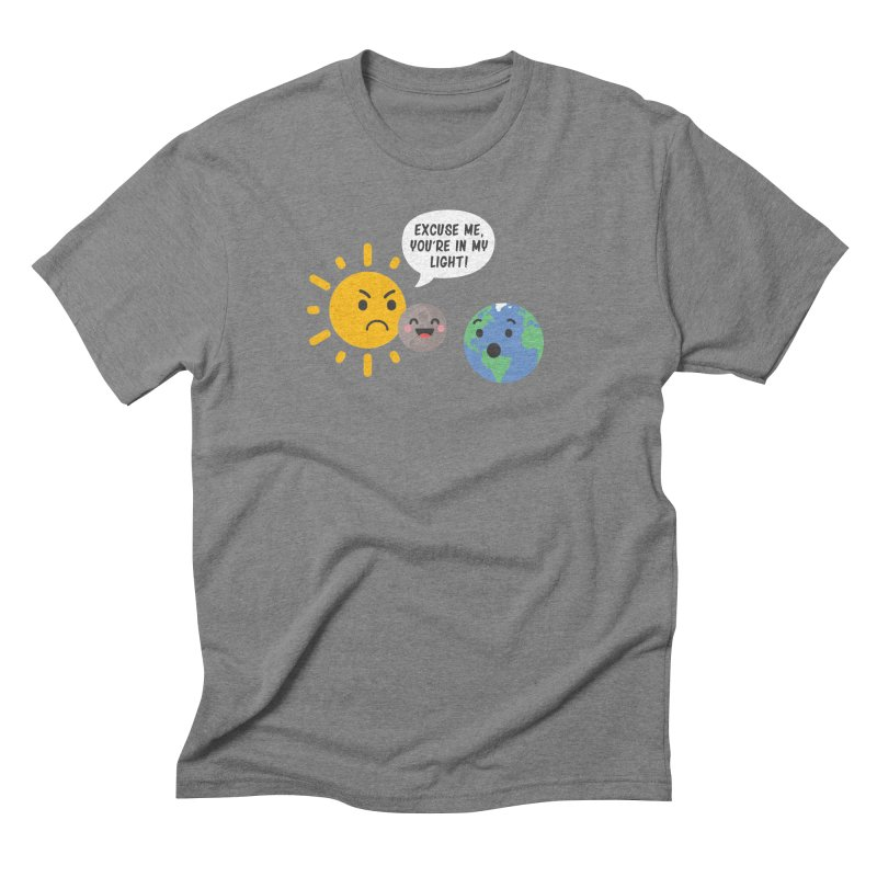 Solar Eclipse Men's Triblend T-shirt by ninthstreetdesign's Artist Shop