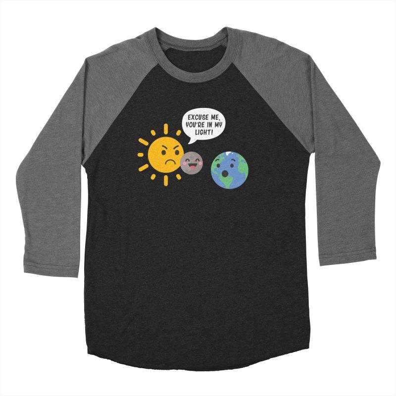 Solar Eclipse Men's Baseball Triblend T-Shirt by ninthstreetdesign's Artist Shop