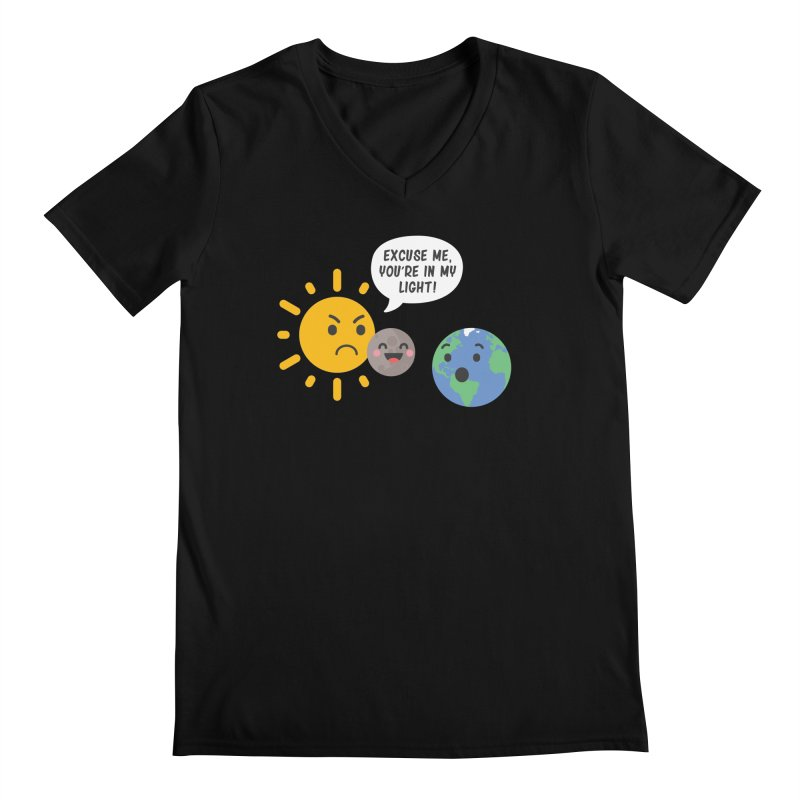 Solar Eclipse Men's V-Neck by ninthstreetdesign's Artist Shop