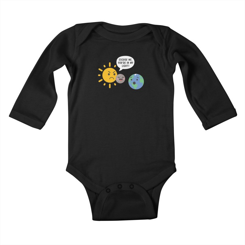 Solar Eclipse Kids Baby Longsleeve Bodysuit by ninthstreetdesign's Artist Shop