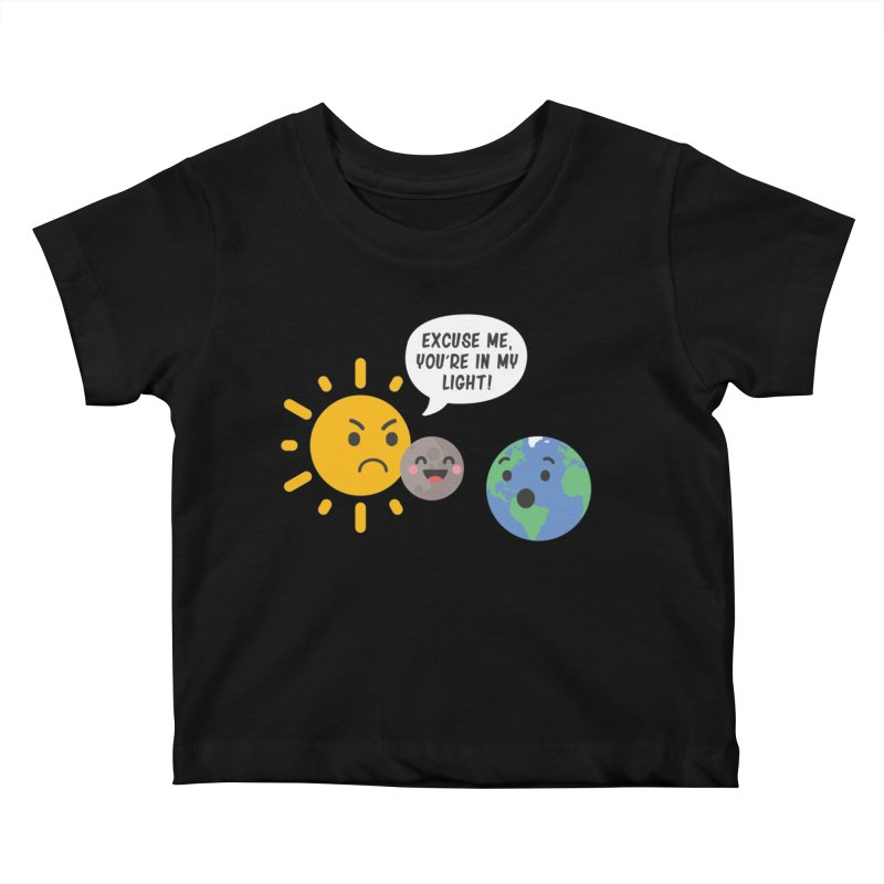 Solar Eclipse Kids Baby T-Shirt by ninthstreetdesign's Artist Shop