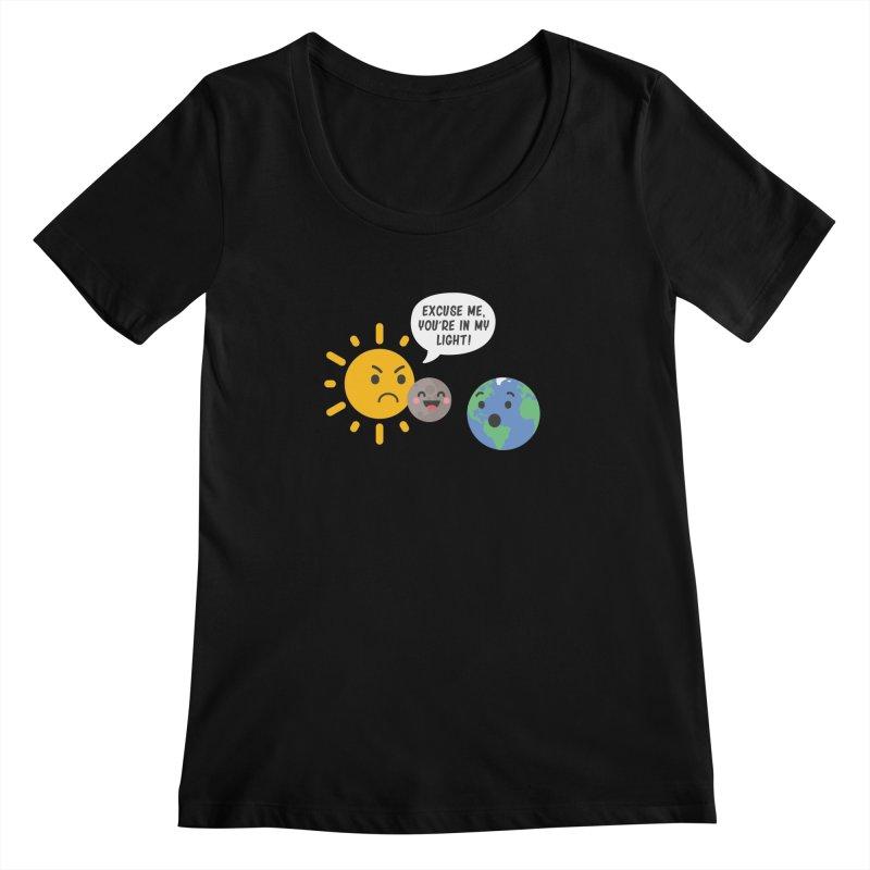 Solar Eclipse Women's Scoopneck by ninthstreetdesign's Artist Shop