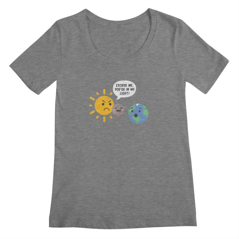 Solar Eclipse Women's Scoopneck by ninthstreetdesign's Artist Shop