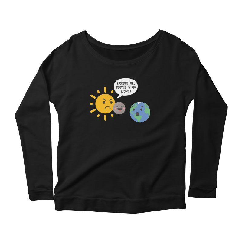 Solar Eclipse Women's Longsleeve Scoopneck  by ninthstreetdesign's Artist Shop