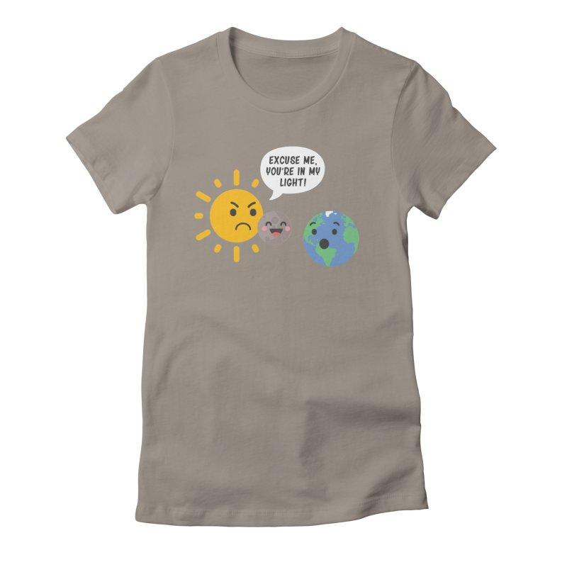 Solar Eclipse Women's Fitted T-Shirt by ninthstreetdesign's Artist Shop