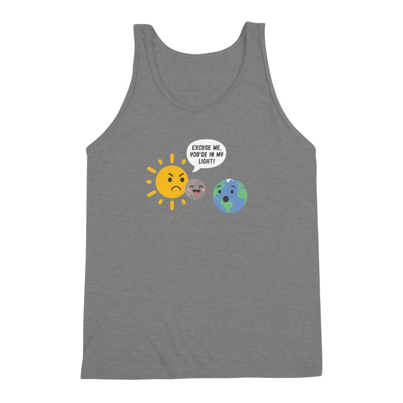 Solar Eclipse Men's Triblend Tank by ninthstreetdesign's Artist Shop
