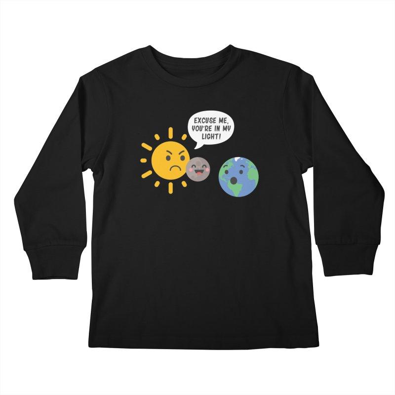 Solar Eclipse Kids Longsleeve T-Shirt by ninthstreetdesign's Artist Shop