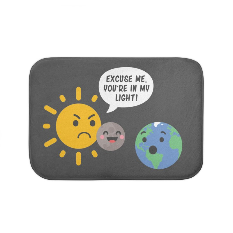 Solar Eclipse Home Bath Mat by ninthstreetdesign's Artist Shop