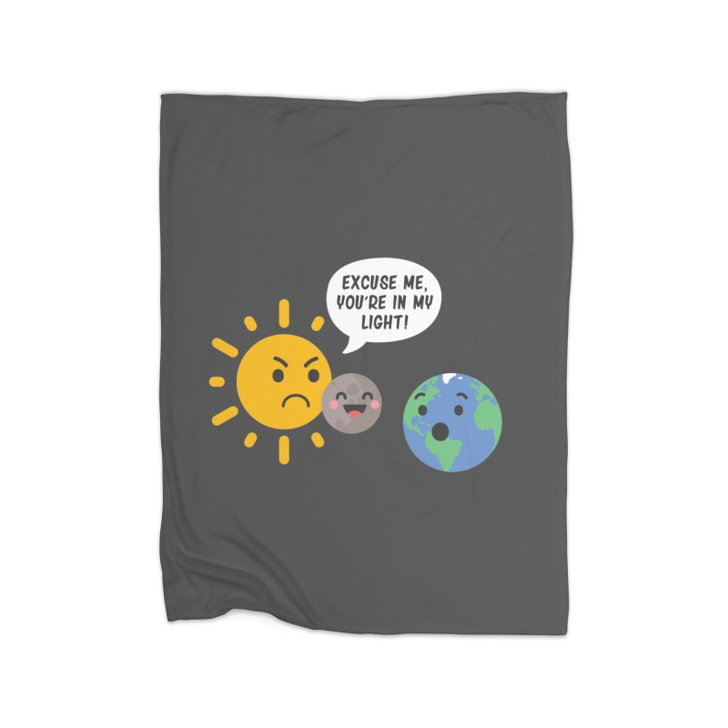 Solar Eclipse Home Blanket by ninthstreetdesign's Artist Shop