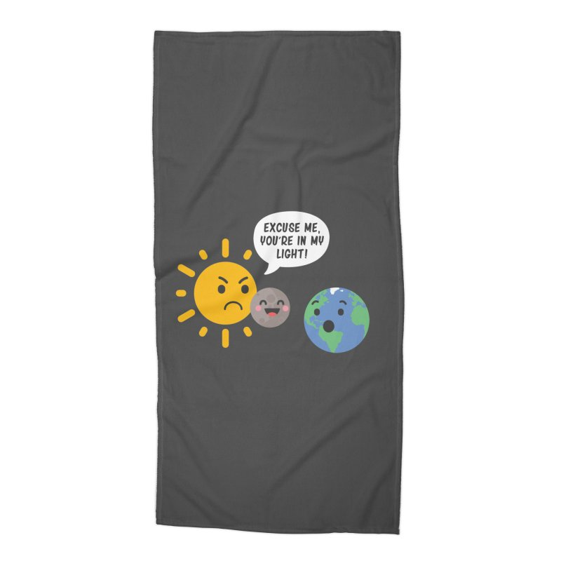 Solar Eclipse Accessories Beach Towel by ninthstreetdesign's Artist Shop