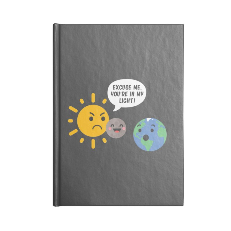 Solar Eclipse Accessories Notebook by ninthstreetdesign's Artist Shop