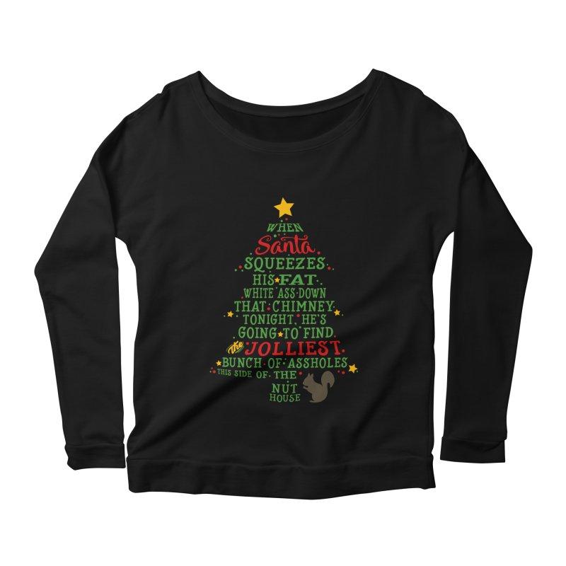 Jolliest bunch of a-holes Women's Scoop Neck Longsleeve T-Shirt by ninthstreetdesign's Artist Shop