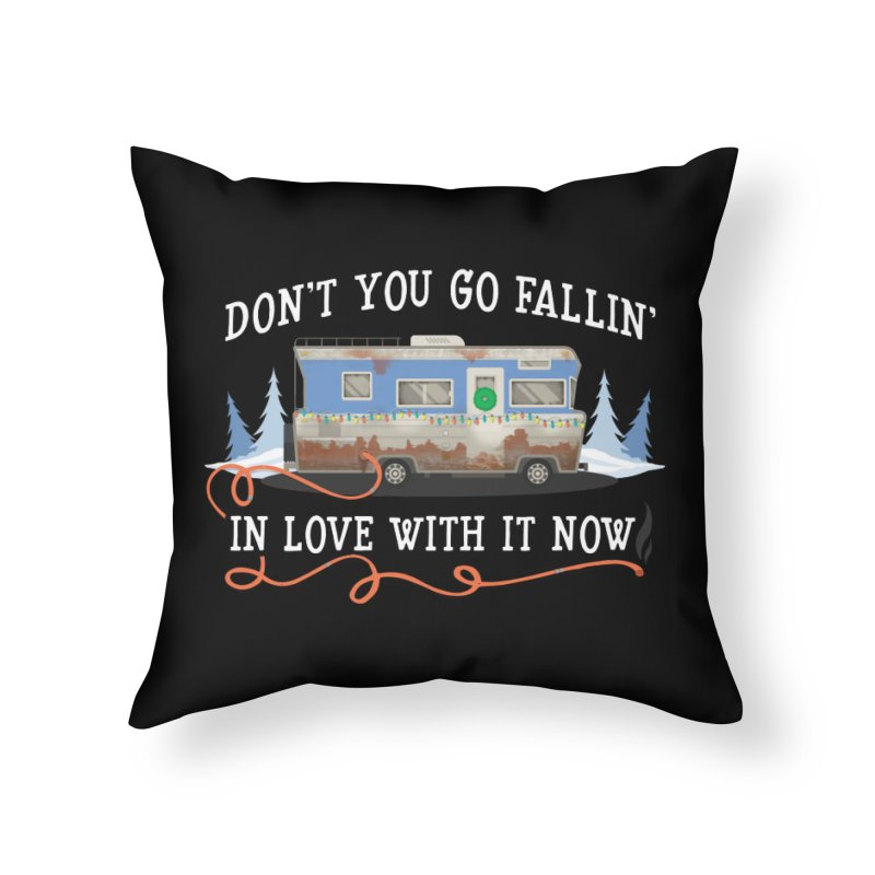 Eddie's RV Home Throw Pillow by ninthstreetdesign's Artist Shop