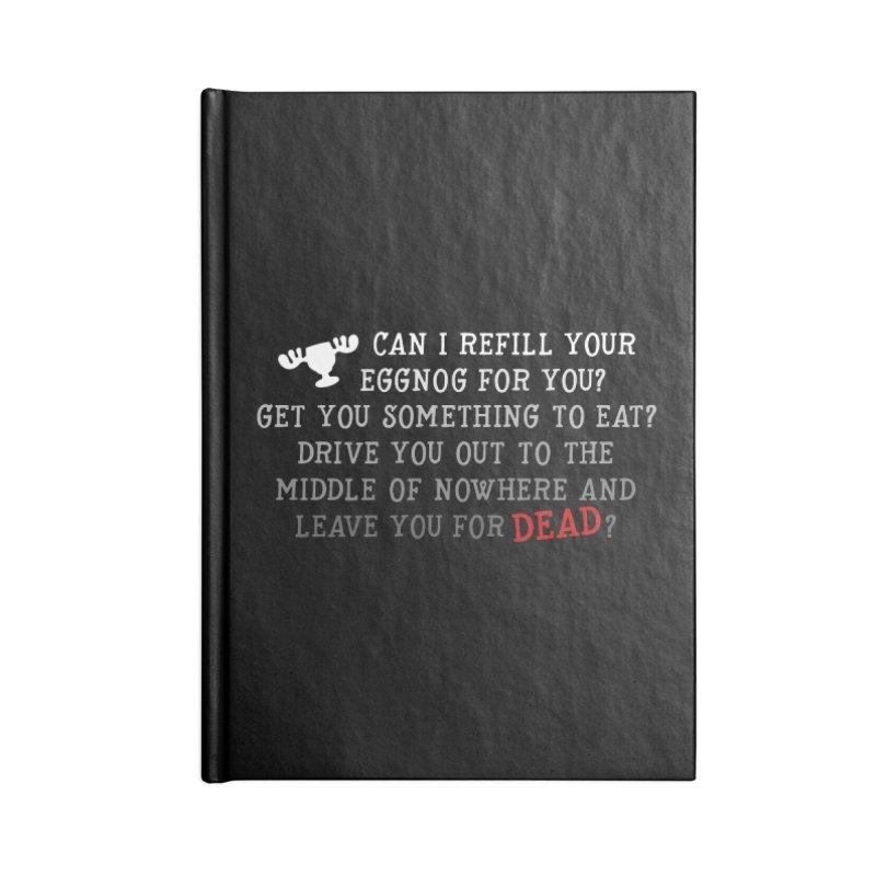 Eggnog Accessories Blank Journal Notebook by ninthstreetdesign's Artist Shop