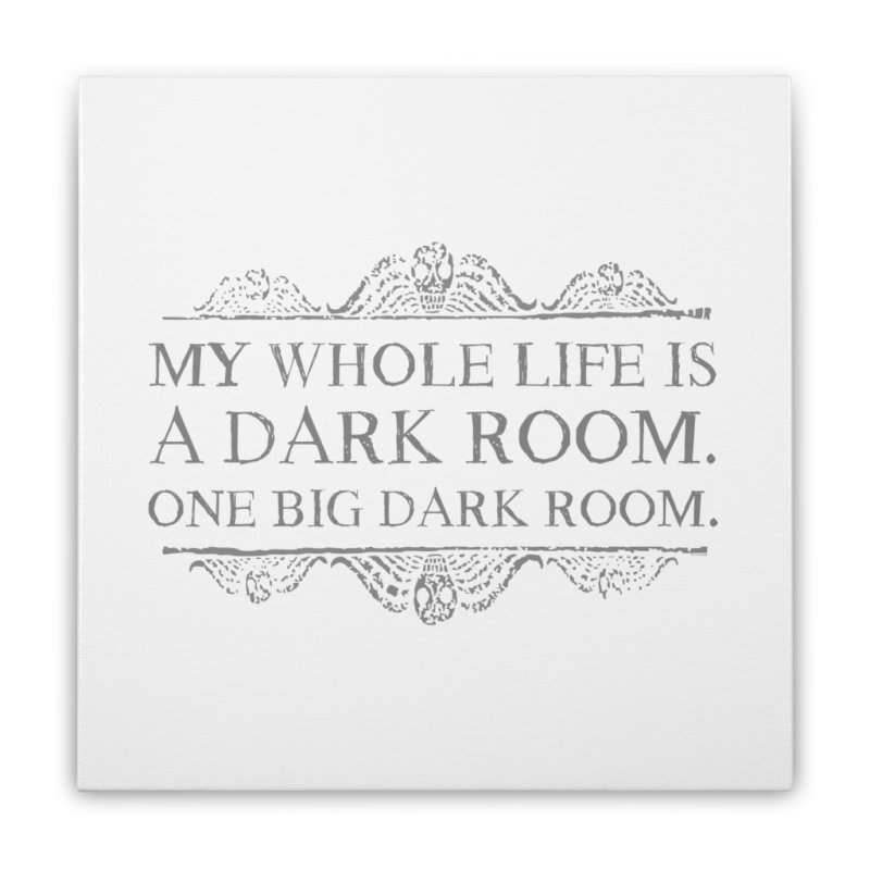 One big dark room Home Stretched Canvas by ninthstreetdesign's Artist Shop