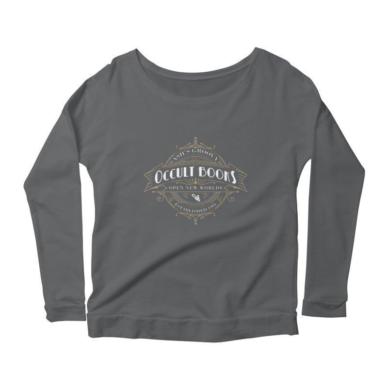 Ash's Occult Books Women's Scoop Neck Longsleeve T-Shirt by ninthstreetdesign's Artist Shop