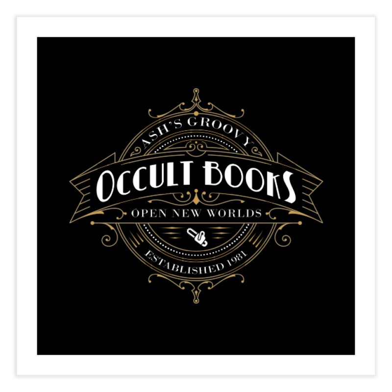 Ash's Occult Books Home Fine Art Print by ninthstreetdesign's Artist Shop