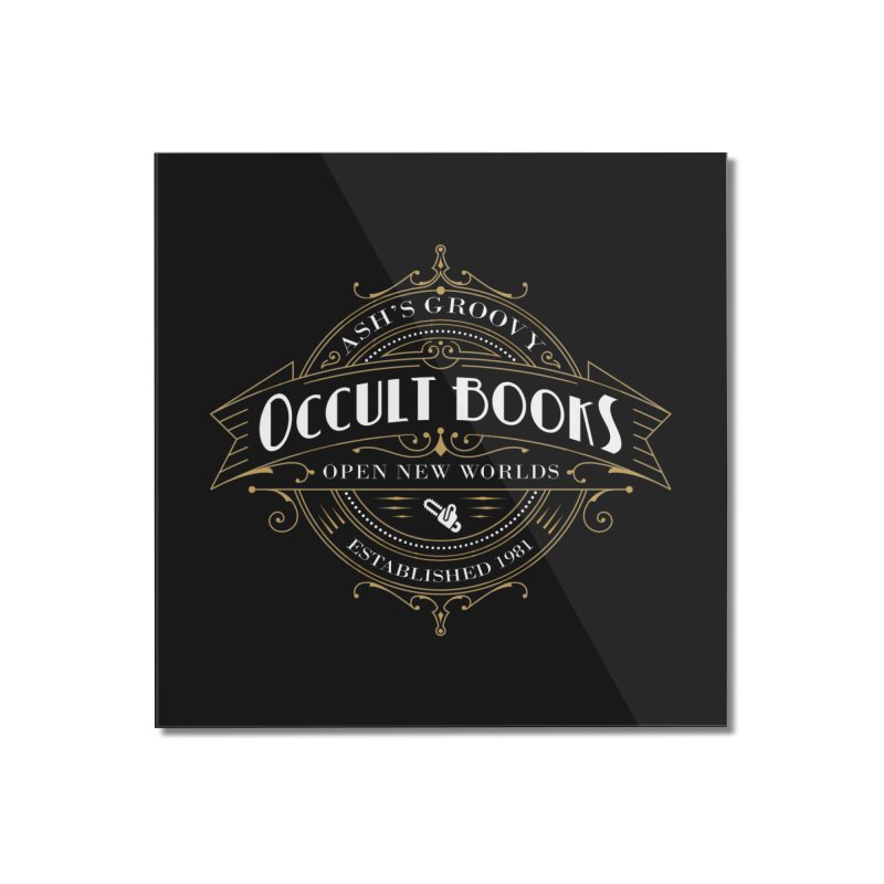 Ash's Occult Books Home Mounted Acrylic Print by ninthstreetdesign's Artist Shop