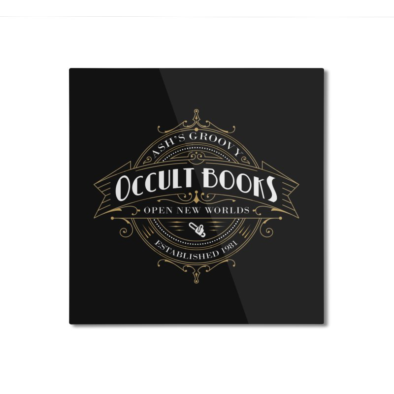 Ash's Occult Books Home Mounted Aluminum Print by ninthstreetdesign's Artist Shop