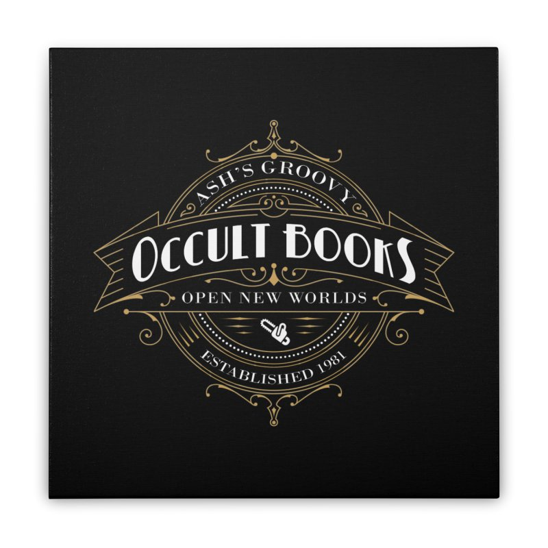 Ash's Occult Books Home Stretched Canvas by ninthstreetdesign's Artist Shop
