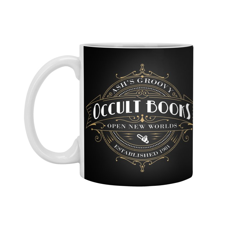 Ash's Occult Books Accessories Standard Mug by ninthstreetdesign's Artist Shop