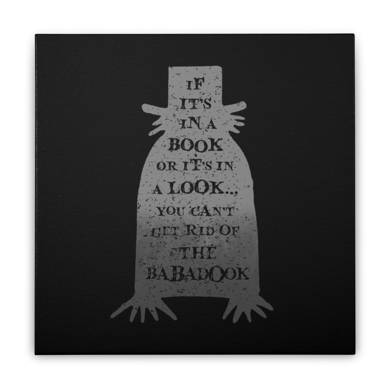 Babadook Home Stretched Canvas by ninthstreetdesign's Artist Shop