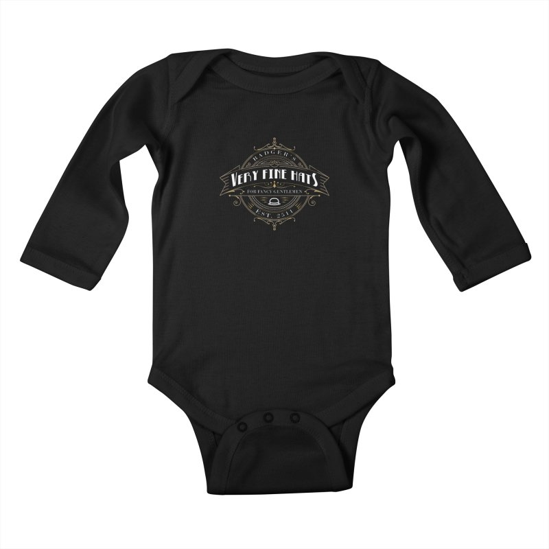 Badger's Hats Kids Baby Longsleeve Bodysuit by ninthstreetdesign's Artist Shop