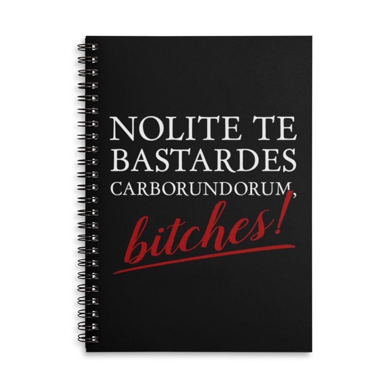 Nolite te bastardes carborundorum Accessories Lined Spiral Notebook by ninthstreetdesign's Artist Shop