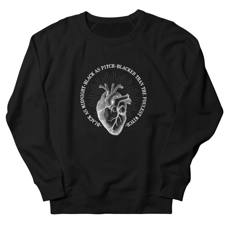 Blacker than the foulest witch Men's French Terry Sweatshirt by ninthstreetdesign's Artist Shop