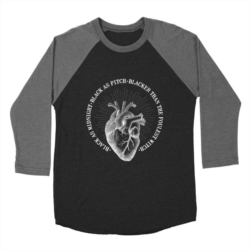 Blacker than the foulest witch Men's Baseball Triblend Longsleeve T-Shirt by ninthstreetdesign's Artist Shop