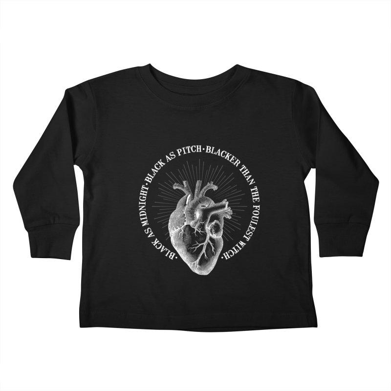 Blacker than the foulest witch Kids Toddler Longsleeve T-Shirt by Ninth Street Design's Artist Shop