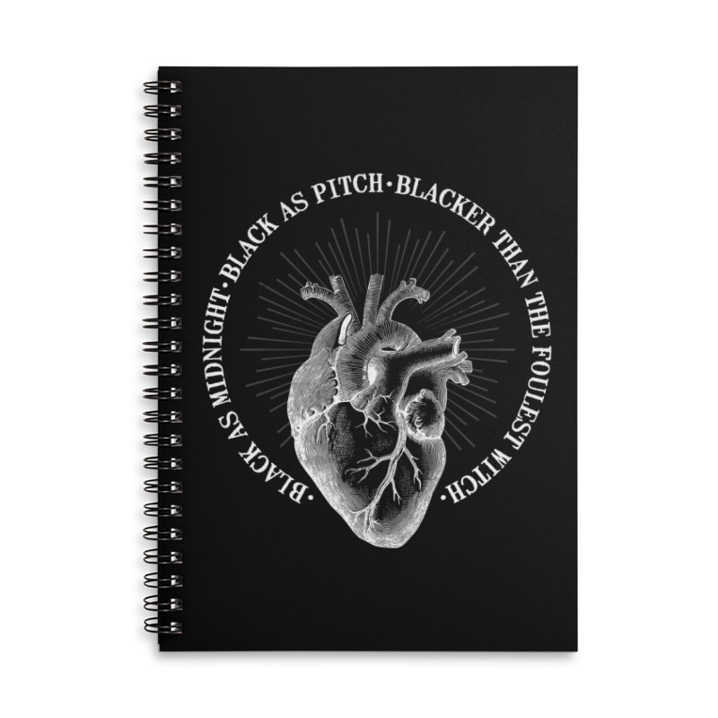 Blacker than the foulest witch Accessories Lined Spiral Notebook by ninthstreetdesign's Artist Shop