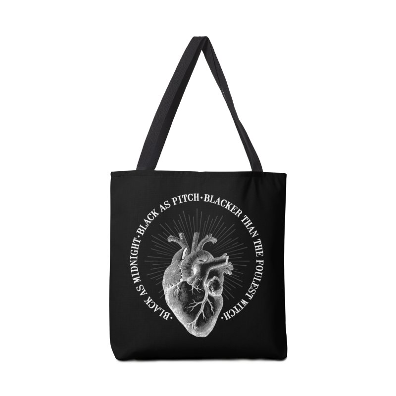 Blacker than the foulest witch Accessories Bag by ninthstreetdesign's Artist Shop