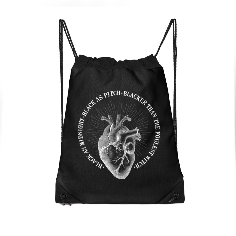 Blacker than the foulest witch Accessories Drawstring Bag Bag by ninthstreetdesign's Artist Shop