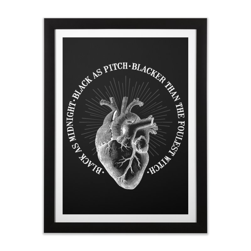 Blacker than the foulest witch Home Framed Fine Art Print by ninthstreetdesign's Artist Shop