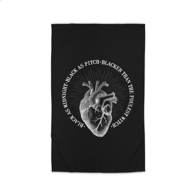 Blacker than the foulest witch Home Rug by ninthstreetdesign's Artist Shop
